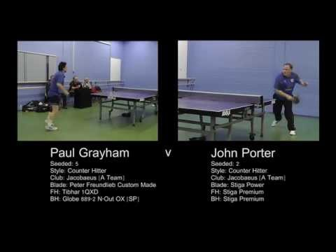 2015 Preston 1st Div Singles SemiFinal: J.Porter v P.Grayham