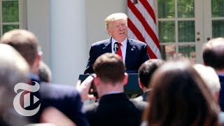 President Donald Trump On Paris Climate Accord Withdrawal (Full) | The New York Times thumbnail