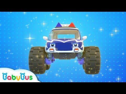 Monster Police Car Patrol Team | BabyBus Safety Tips | Super Rescue Team | Baby Song | BabyBus