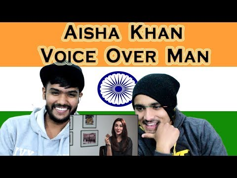 Indian Reacts to Funny Aisha Khan interview with Voice Over Man | Swaggy d