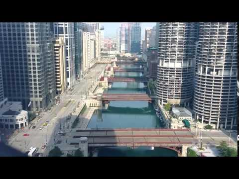 Chicago River From Wyndham Grand Riverfront Hotel