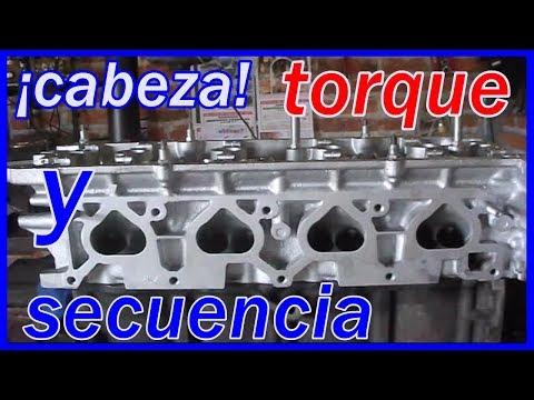 TORQUE DE CABEZA y secuencia de apriete. motor 2.4 altima