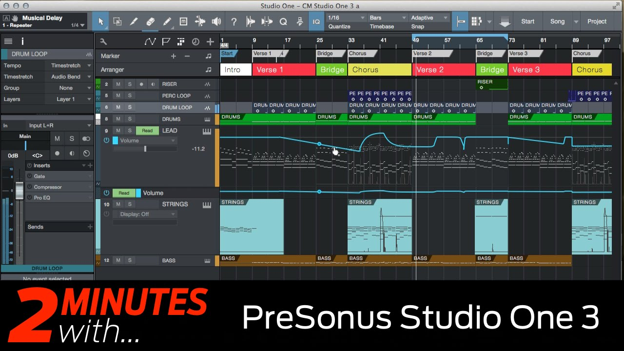 Presonus Studio One 3 DAW in action  YouTube
