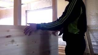 Отделка стен евро вагонкой(В данном видео показано как мы обшиваем стены евро вагонкой класса - Б., 2016-03-01T13:44:29.000Z)