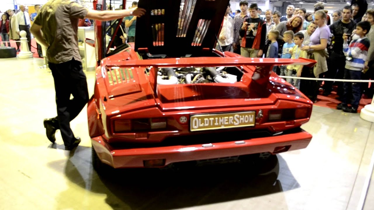 Lamborghini Countach Pure Engine Sound Youtube