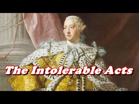 History Brief: The Intolerable Acts
