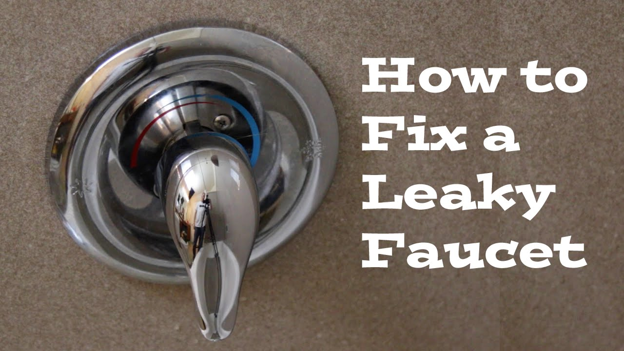How To Replace A Moen Cartridge And Fix A Leaky Bathtub Faucet Fix - Bathroom tub faucet leaking