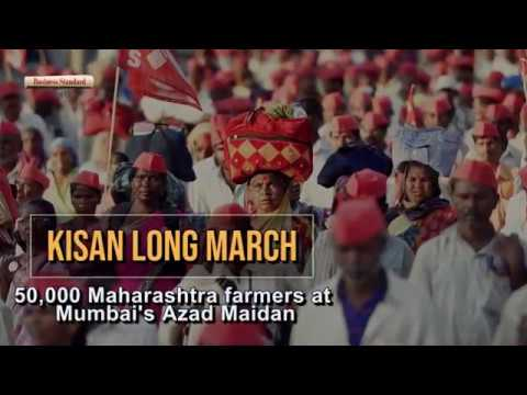 Kisan Long March: 50,000 Maharashtra farmers at Mumbai's Azad Maidan