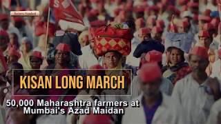 Kisan Long March: 50,000 Maharashtra farmers at Mumbai's Azad Maidan