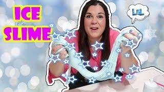 Como hacer slime Ice slime de hielo ❄  slime de nieve ⛄ Slime de navidad 🎄 LOL Retos Divertidos