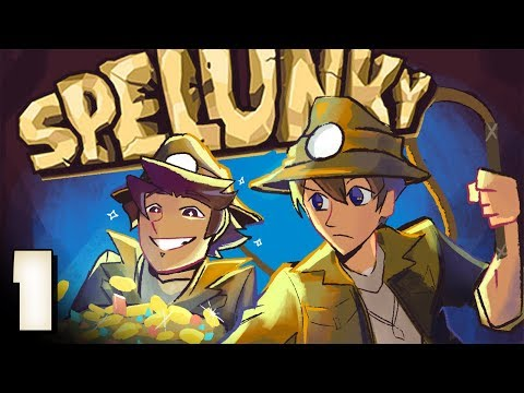 Spelunky Co-op: The  Blue Hedgehog? - EPISODE 1 - Friends Without Benefits