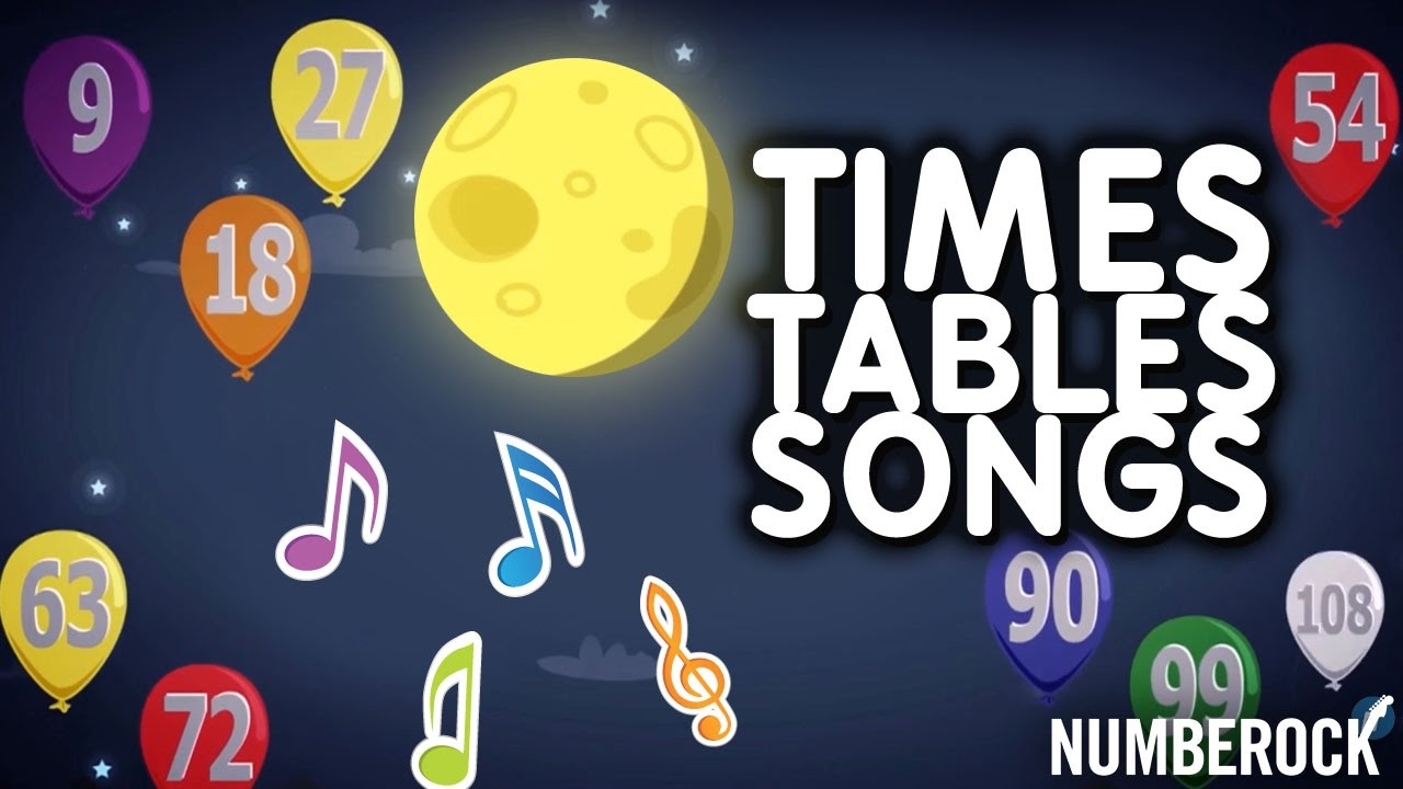 Times Tables Songs For Kids | 6, 7, 8 & 9 | Fun Multiplication Songs ...
