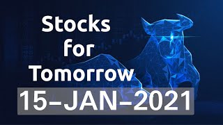 Intraday Stocks for Tomorrow | 15-JAN-2021 | #Nifty & #BankNifty Levels | Gann Astro Analysis