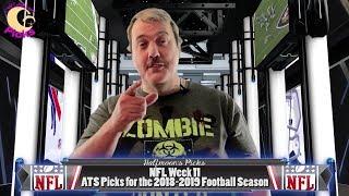 NFL Week 11 ATS Picks for the 2018-2019 Football Season