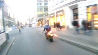 Berlin Bikes - Motorcycle Exhaust Backfire Prank