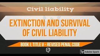 Extinction and Survival of Civil Liability - Criminal Law [AUDIO CODAL]