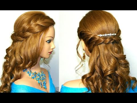 Curly Prom Hairstyle For Medium Long Hair Tutorial