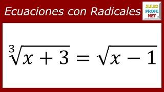 ECUACIONES CON RADICALES - Ejercicio 9