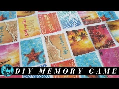 DIY Memory Game Using Scrapbook Paper