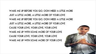 Chris Brown - Little More Lyrics