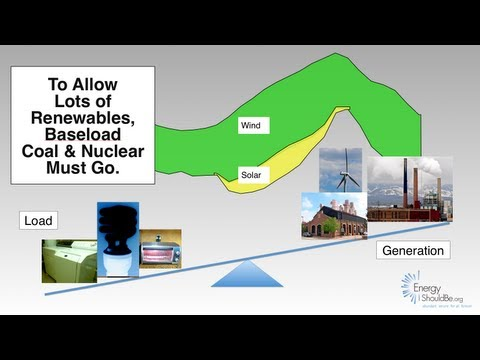 To Allow Lots of Renewables, Baseload Coal & Nuclear Must Go