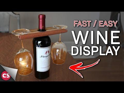 DIY Wine & Glasses Display