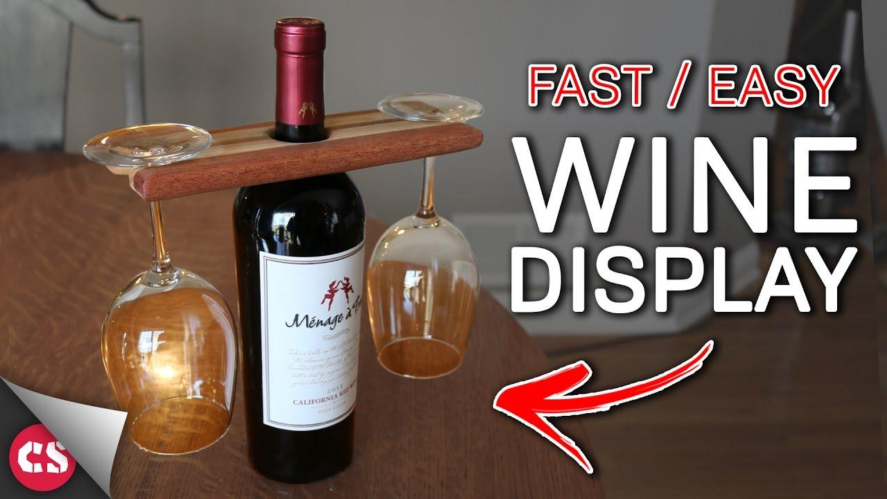 diy wine glasses display youtube