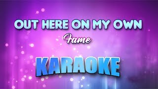 Gambar cover Fame - Out Here On My Own (Karaoke version with Lyrics)