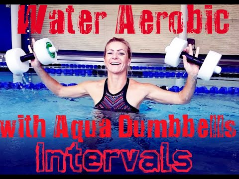 Water Aerobic: Interval Training with Aqua Dumbbells