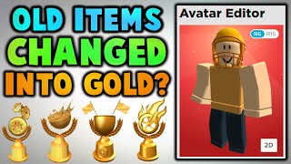 Why did some accessories turn into gold? (Roblox)