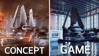 Concept Art vs Final In-Game Images | Battlefront II Comparison