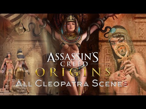 Assassin's Creed Origins All Cleopatra Scenes 😍😋