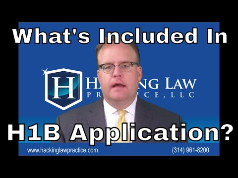 What documents are included in an H1B employment visa application?