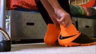 Nike Hypervenom Phatal Ii Leather Fg Orange Black| Unboxing And On Fitting