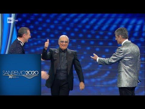 Sanremo 2020 - Tony Renis dirige Fiorello in 'Quando quando quando'