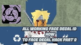 ALL WORKING ID FOR FACE DECAL HACK EYE! ROBLOX SHINOBI LIFE | [Full Tutorial] how to face decal!