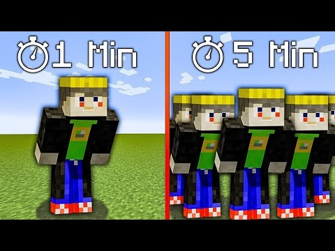 minecraft, but i get cloned every minute - GrayStillPlays