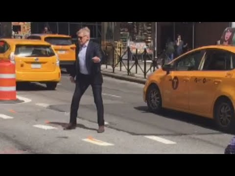 Watch 'Indiana Jones' Star Harrison Ford Direct Traffic