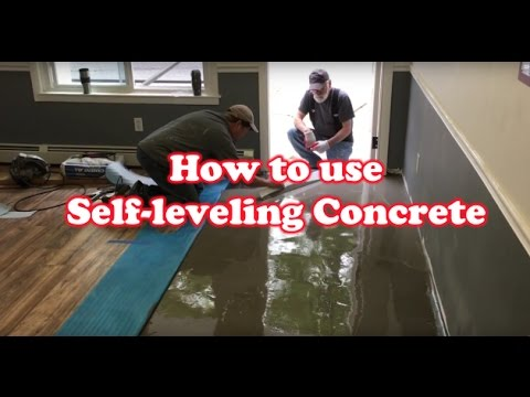 How To Level Uneven Floor With Self Leveling Concrete Youtube