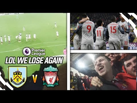 9 GAMES WITHOUT A WIN!! - BURNLEY 1-3 LIVERPOOL VLOG
