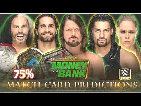 WWE Money In The Bank 2018 75% Match Card/World Wrestling Tamil