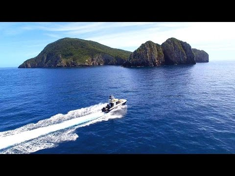 The Poor Knights Islands: New Zealand. A Drone video