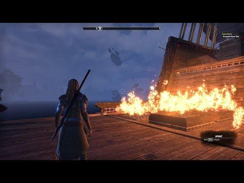 ESO Morrowind #2 Find Ingredients, Make Firebomb, Burn Slaver's Ship