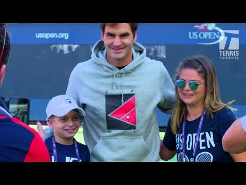 Cancer Survivor Marc Krajekian Meets Tennis Idol Roger Federer