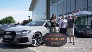 Winner Donia Pankhurst collects her Audi RS4 Avant!