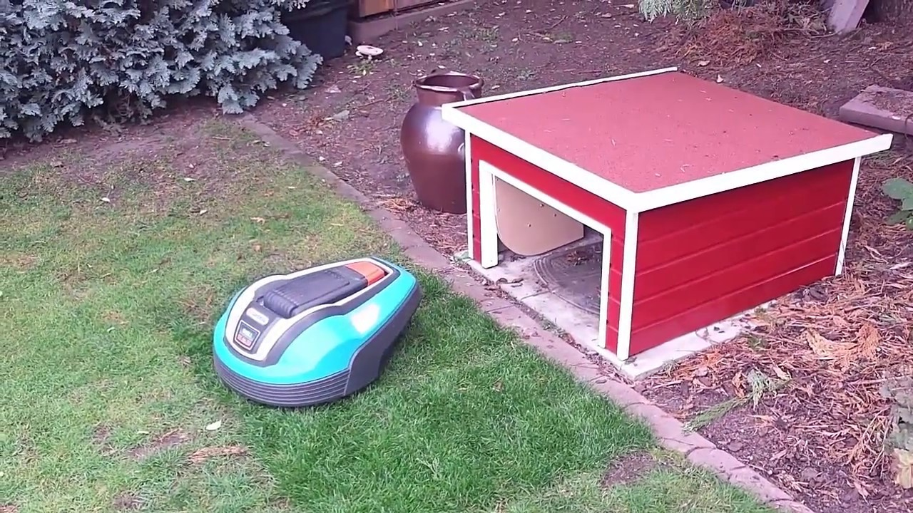 Garage Fur Mahroboter Mit Schwingtor Garage Automower Youtube