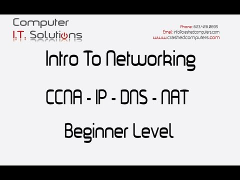 Intro Networking - CCNA - IP - DNS - NAT  Beginner Level