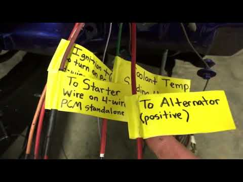1980 LS K5 Bulkhead Wire up for LS Swap - YouTube Wall Mount Ls Wiring Harness Schematic on