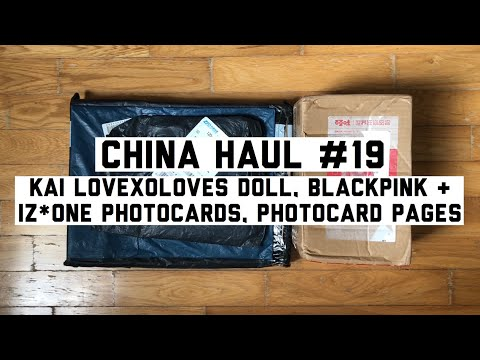 CHINA HAUL #19 | LOVEXOLOVES Kai Doll + Photocard Pages + BLACKPINK IZ*ONE Photocard from YouTube · Duration:  6 minutes 38 seconds