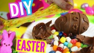 DIY Edible Easter Slime   Crunchy Starburst Slime! + DIY Chocolate Eggs!
